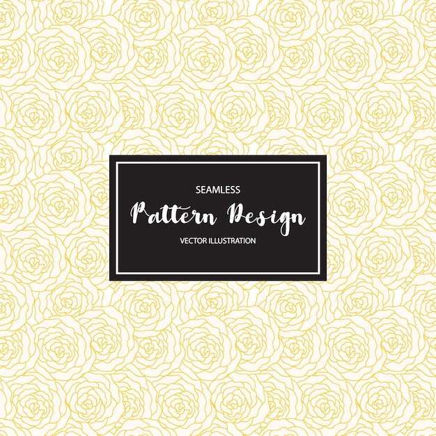 Yellow flowers pattern background