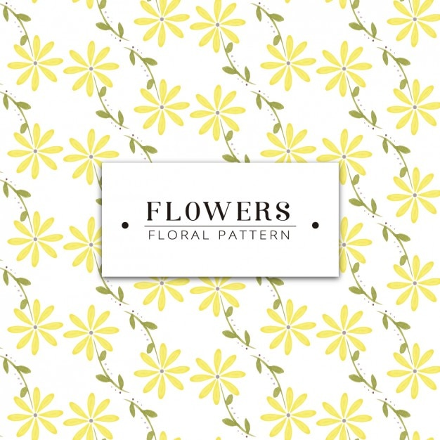 Yellow flowers pattern design