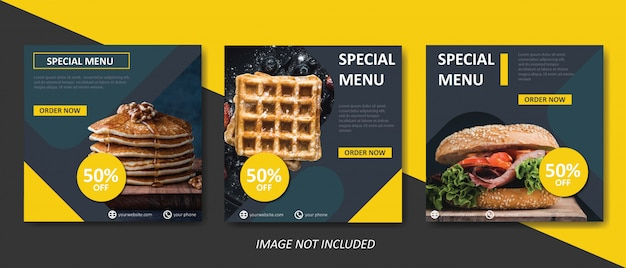 Yellow food and culinary sale banner template Premium Vector