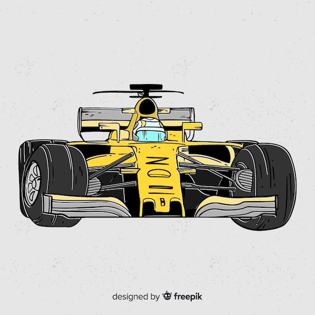 Yellow formula 1 car background