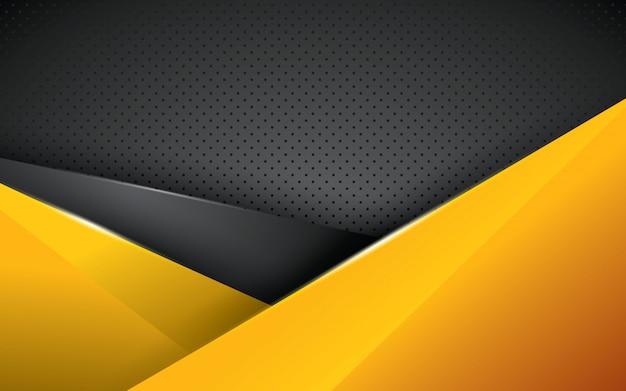 Yellow geometric background overlap layer Premium Vector