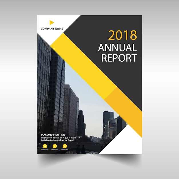 Yellow geometric corporate annual report template Vector | Free ...