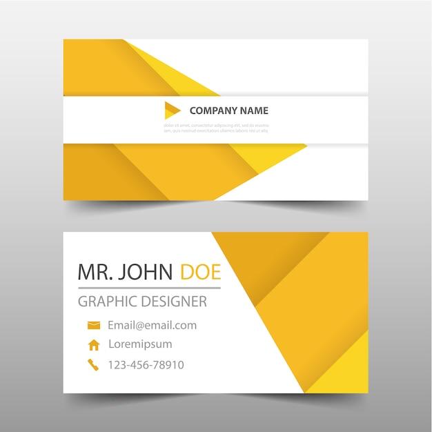 Yellow geometric style business card vector free download yellow geometric style business card free vector reheart Choice Image