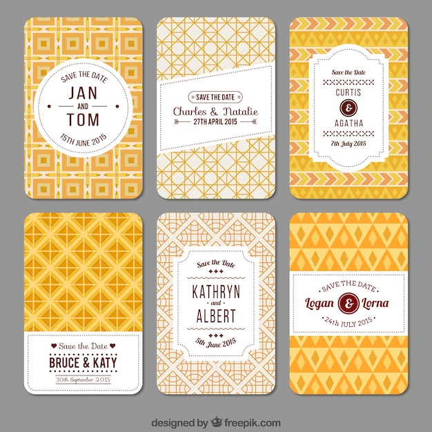 Yellow geometric wedding invitations vector free download yellow geometric wedding invitations free vector stopboris Choice Image