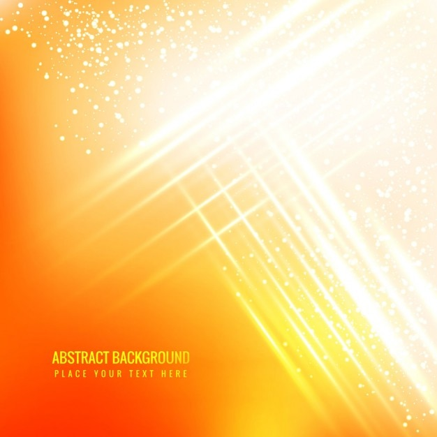 Yellow glowing abstract background with sparkles Free Vector