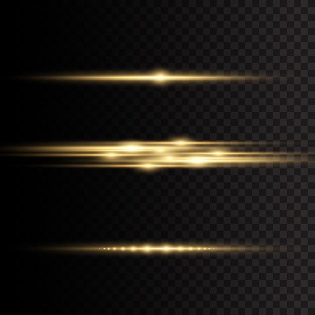 透明な背景に黄色の輝く光が爆発します。 Premiumベクター