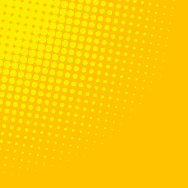 Yellow gradient halftone background Free Vector