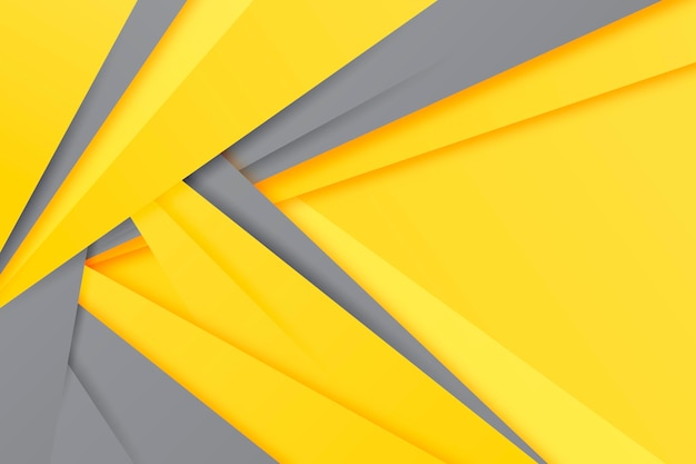 Yellow and gray paper style background Free Vector