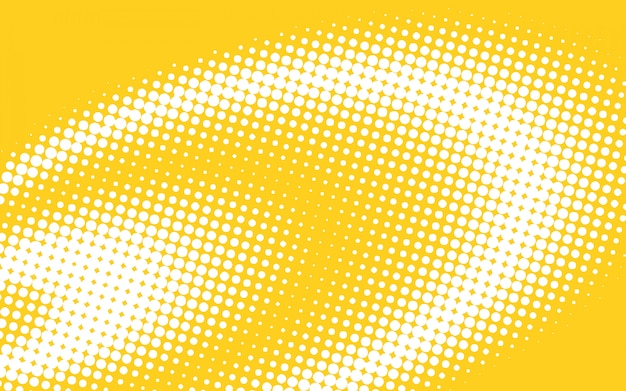 Yellow halftone background Free Vector
