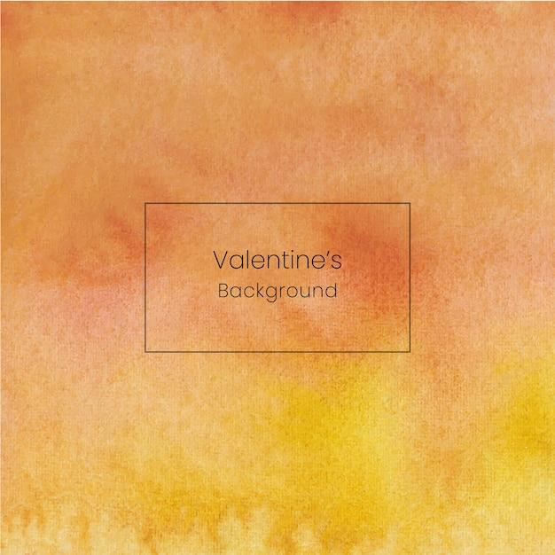 黄色の手描きバレンタイン水彩背景 Premiumベクター
