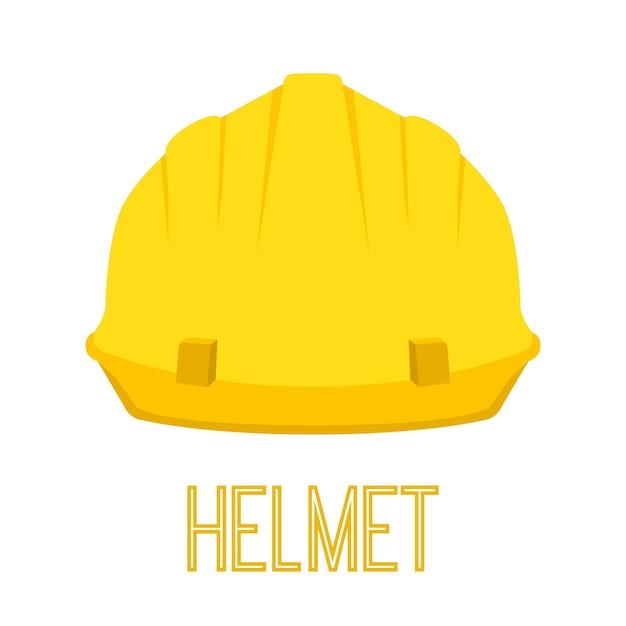 Yellow helmet Premium Vector