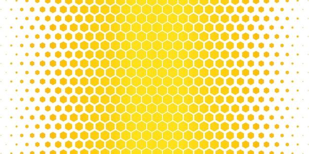 노란색 육각형 패턴 무료 벡터