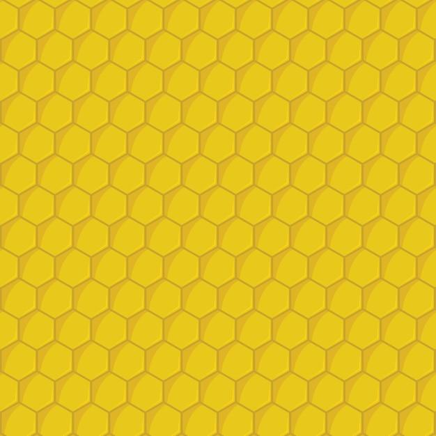 Yellow honeycomb seamless pattern Premium Vector