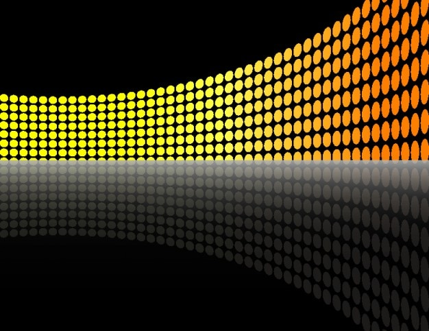 Yellow lights dotted wall abstract background Vector Free Download