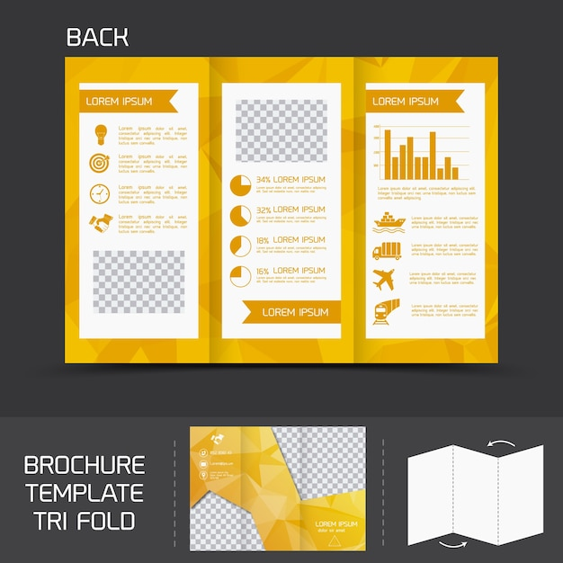 yellow logistics paper brochure leaflet tri