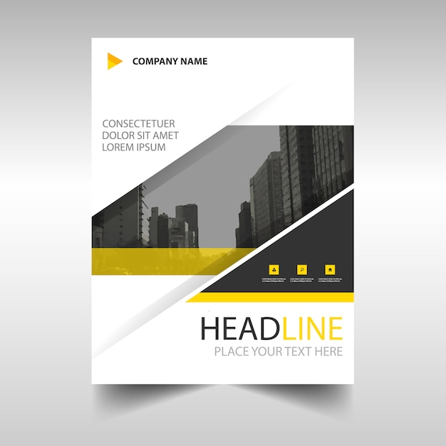 Yellow Modern Annual Report Template Vector | Free Download