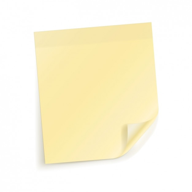Yellow note paper Vector | Free Download