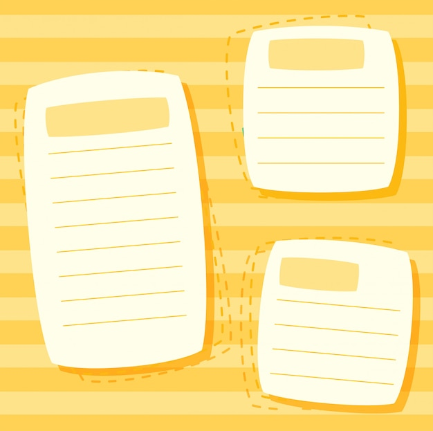 A yellow note template Free Vector