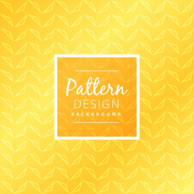 Yellow pattern background Free Vector