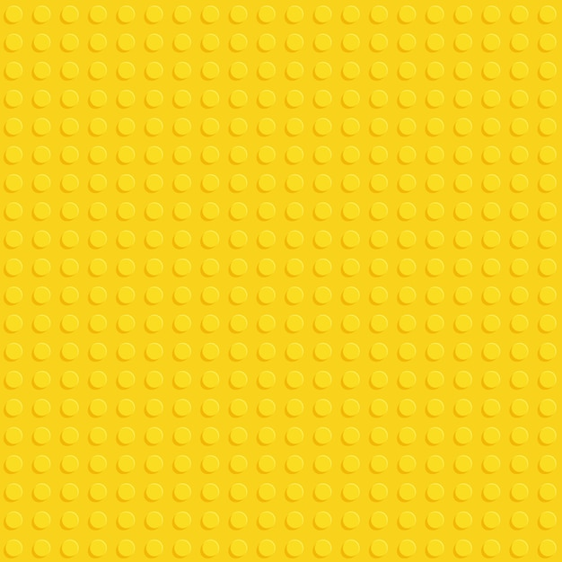 Yellow plastic construction block plate seamless pattern Premium Vector