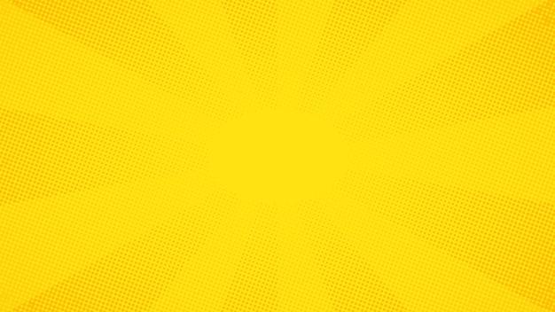 黄色のポップアートコミックハーフトーンドット背景 Premiumベクター