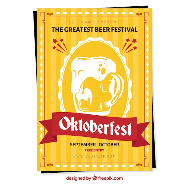 Yellow poster for oktoberfest