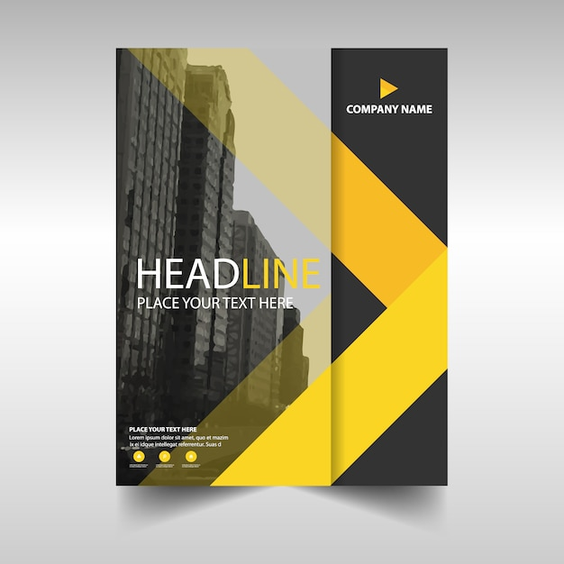 Yellow profesional business brochure template Free Vector