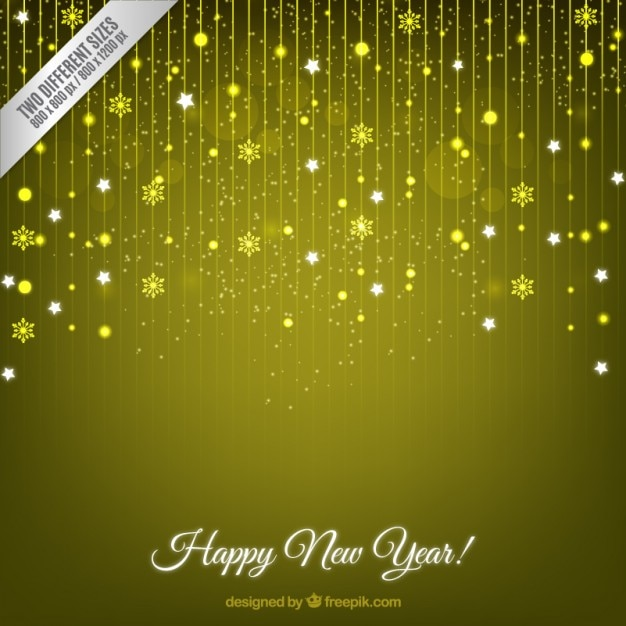 yellow sparkling new year background vector premium download
