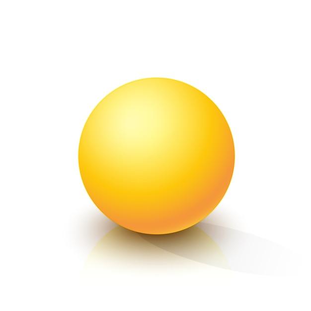 Yellow sphere Premium Vector