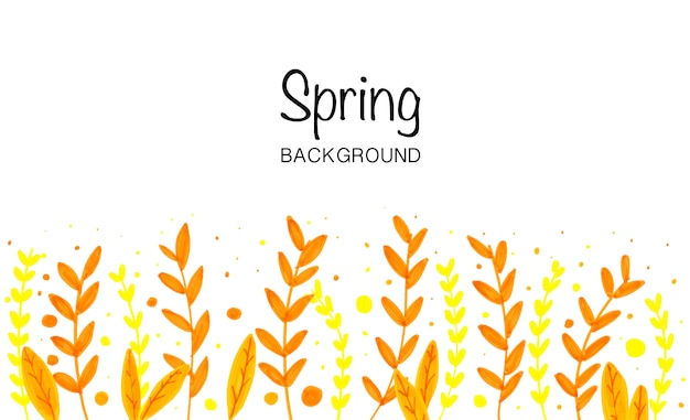 Yellow spring Free Vector