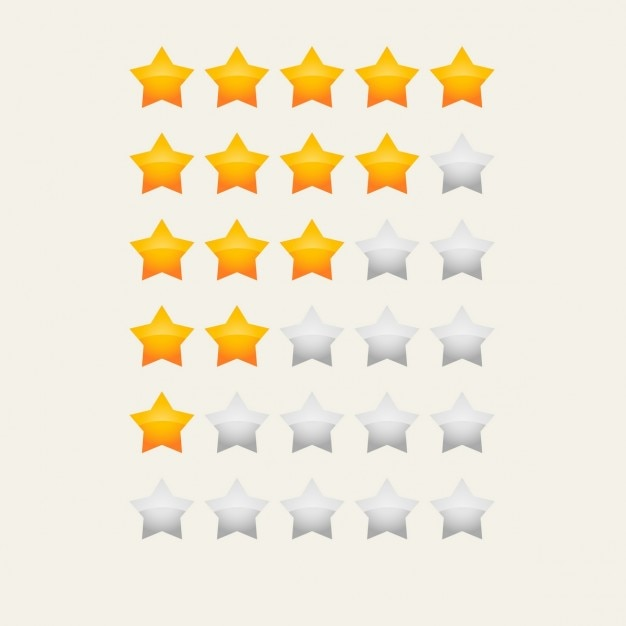 Yellow star rating Free Vector