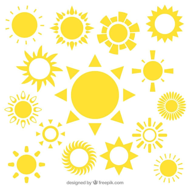 Yellow Sun Icons Vector Free Download