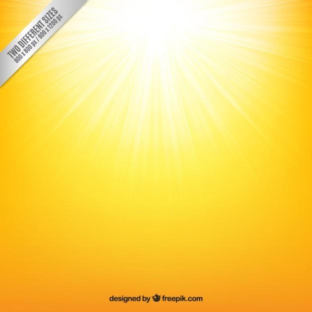 Yellow sunshine background Free Vector