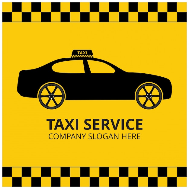 Yellow taxi logotype design Vector | Free Download