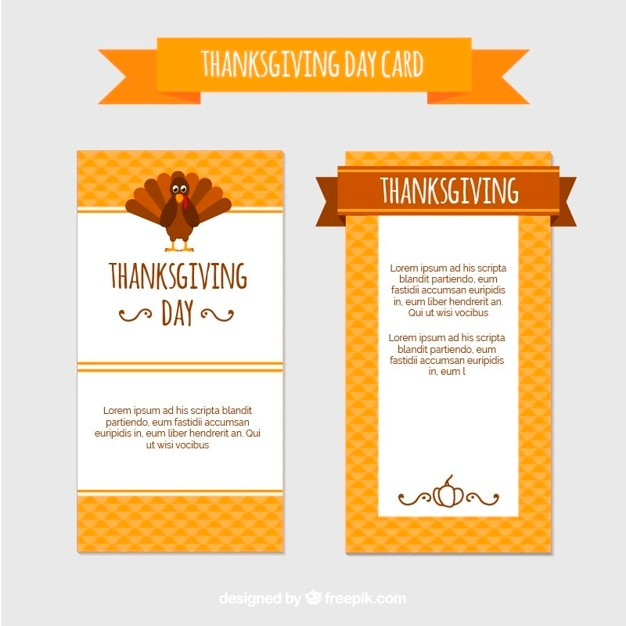 Yellow Thanksgiving Day Menu Vector Free Download