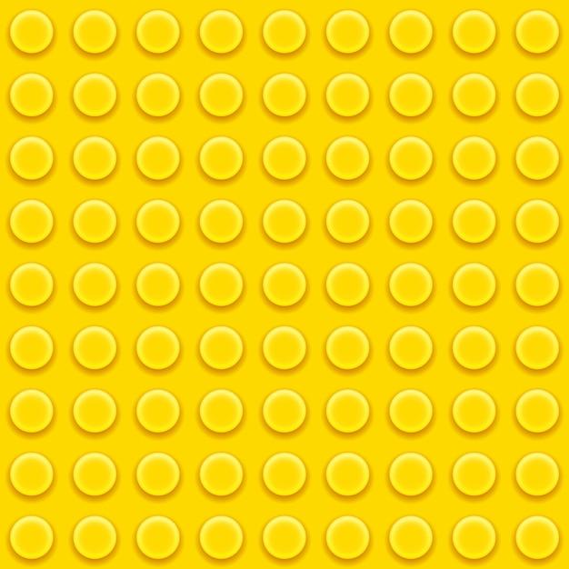 Yellow toy block Free Vector
