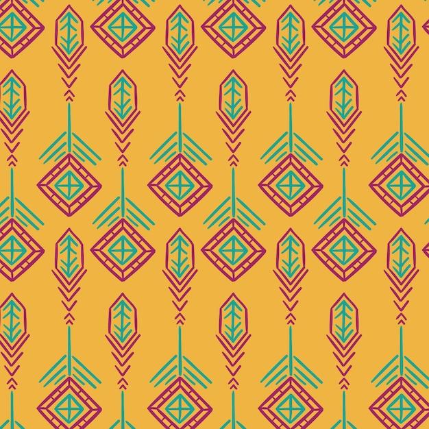 Modello di songket tradizionale giallo Vettore gratuito