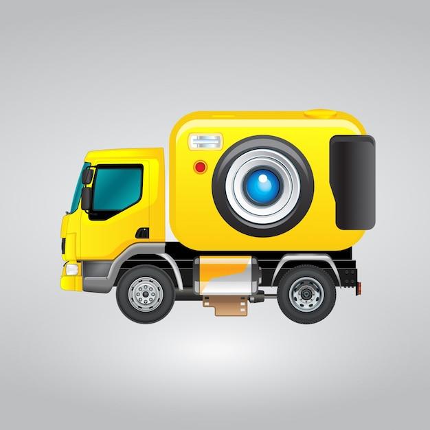 Yellow truck camera design