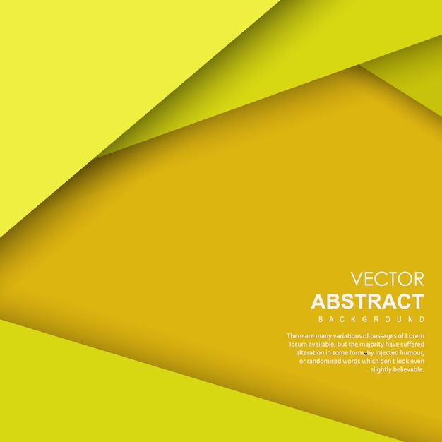 Yellow Vector Abstract Background Free Vector