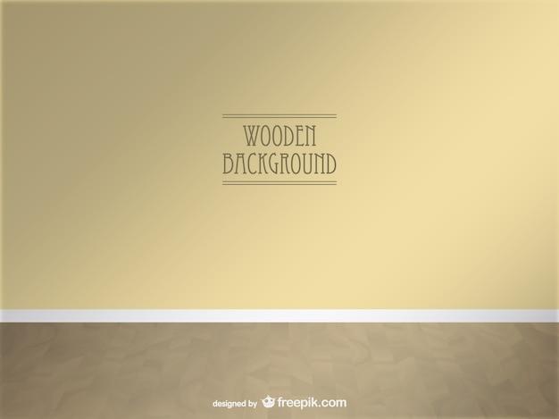 Вектор деревянную 3d пространство реалистичным дизайн Бесплатные векторы