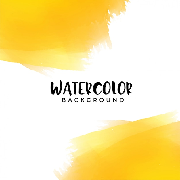 Yellow watercolor background with text space Free Vector