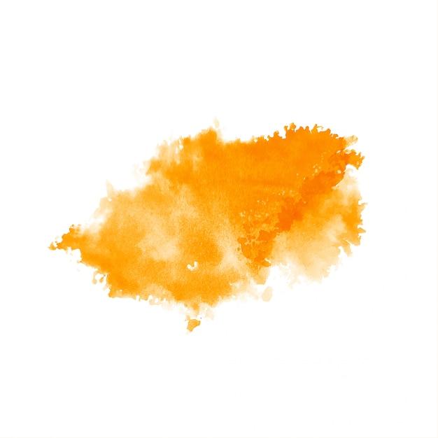 Yellow watercolor splash stain design Free Vector