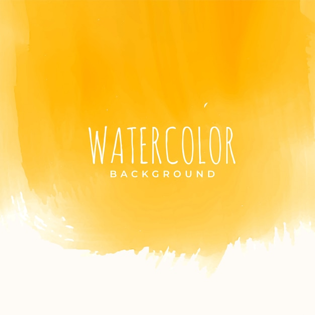 Yellow watercolor texture abstract background Free Vector
