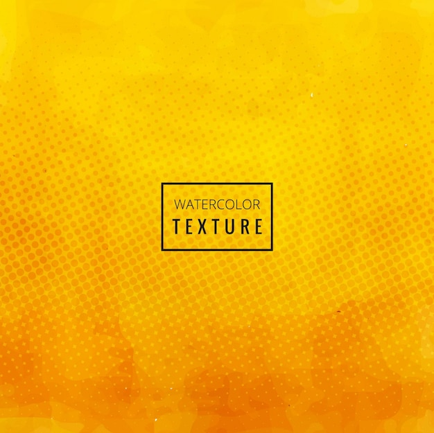 Yellow watercolor texture Free Vector