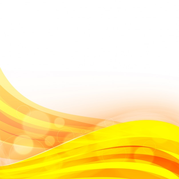 Yellow waves abstract background. Vector | Premium Download