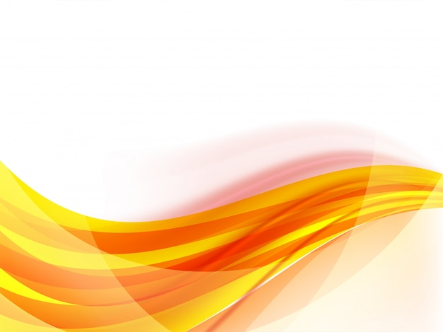 Yellow waves, abstract background. Vector | Premium Download