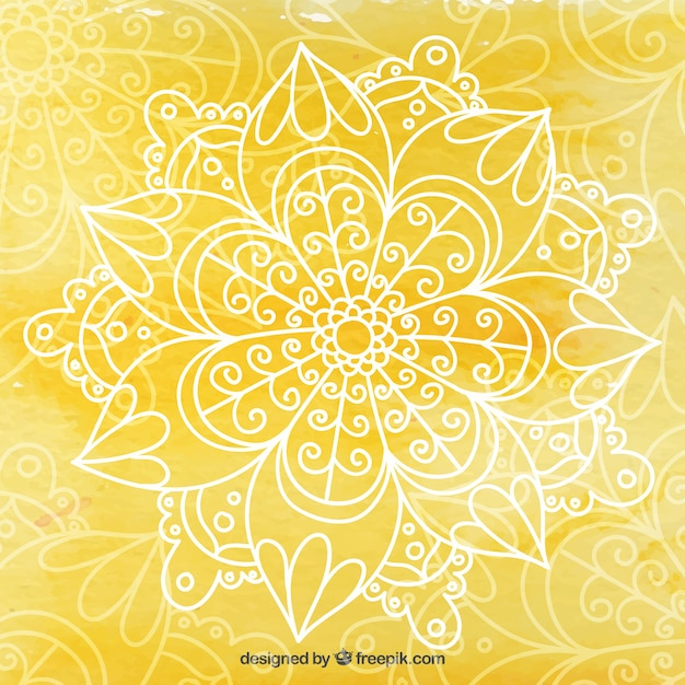 Yellow Yoga Background Vector Free Download