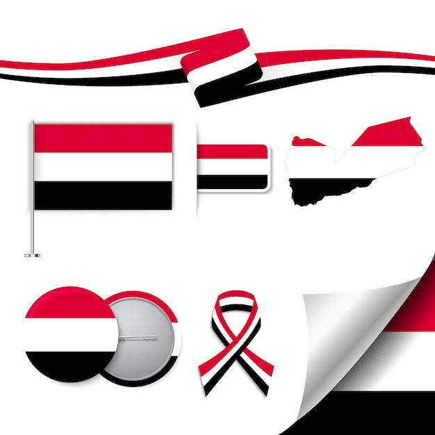 イエメンの代表的な要素のコレクション 無料ベクター