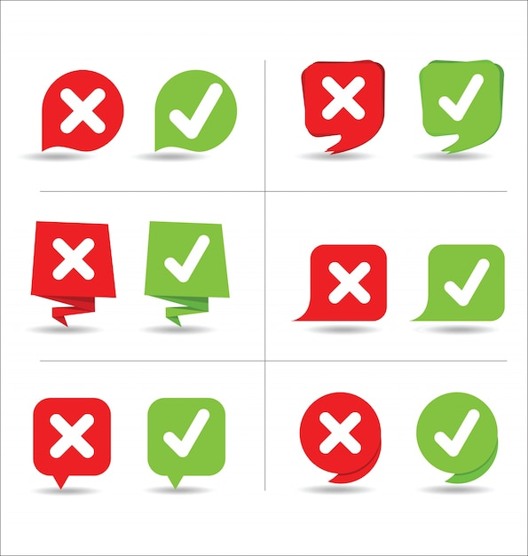 Yes and no sign Premium Vector