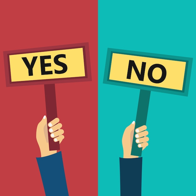 Yes and no signs Free Vector